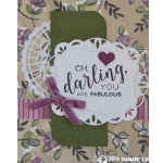 CARD: Oh darling you are fabulous from the Stitched All Around Bundle