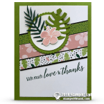 CARD: Much Love & Thanks Card from the Tropical Escape Suite