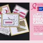 FUNDRAISER: 9th Annual Stamp Out Breast Cancer Giveaway & Free Tutorial