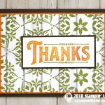 CARD: Thanks card from the Warm Hearted Stamp Set
