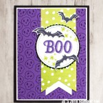 CARD: Boo Bats from the Warm Hearted Stamp Set