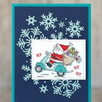 CARD: Ho! Ho! Ho! on Santa's Scooter from the So Santa stamp set