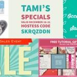 SPECIALS: Tami's Ordering Gift Tutorials for December 16-31 – Hostess Code SKRQZDDN