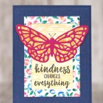 CARD: Kindness Butterfly Card from the Abstract Impressions Stamp Set