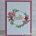 CARD: Hello card from the Floral Frames  stamp set