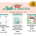 The New Sale-a-Bration 2nd Release products are now available
