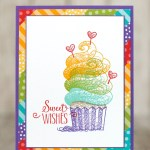 CARD: Sweet Wishes from the Hello Cupcake Stamps