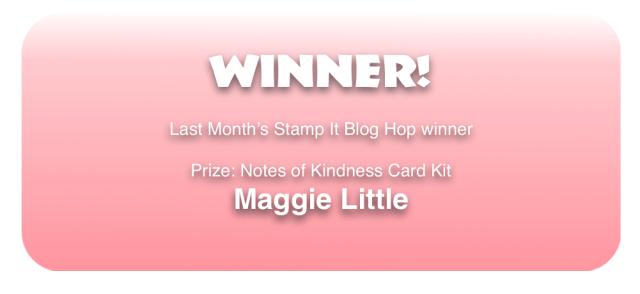 Last Month's Blog Hop Winner