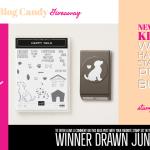 BLOG CANDY GIVEAWAY:  Happy Tails Stamp Set and Dog Punch Bundle