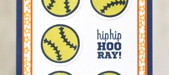 CARD: Hip Hip Hooray Softball Card from the For the Win stamps