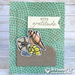 CARD: Gratitude Seashells from the Seaside Notions Stamp Set