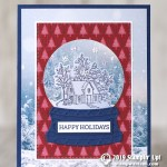 CARD: Happy Holidays snow globe Christmas card