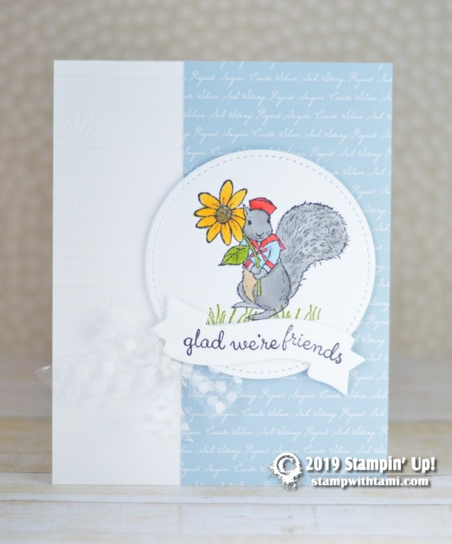 Stampin Up Fable Friends stamp set card