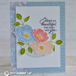 CARD: Beautiful days card from Floral Essence