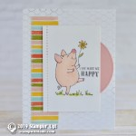 CARD: You make me happy from This Little Piggy Stamp Set