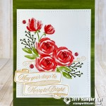 CARD:May Your Days Be Merry & Bright Roses Card