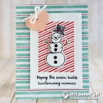 CARD: Hoping This Season Build Heartwarming Memories Snowman Card