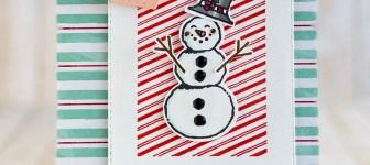 CARD: Hoping This Season Build Heartwarming Memories Snowman Card
