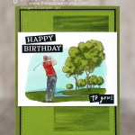 SNEAK PEEK: Golf Birthday card from the Clubhouse Stamp Set