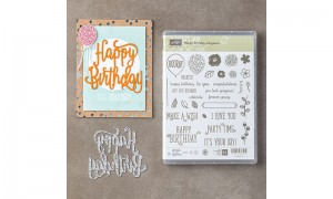 Happy Birthday Gorgeous stamps and die set