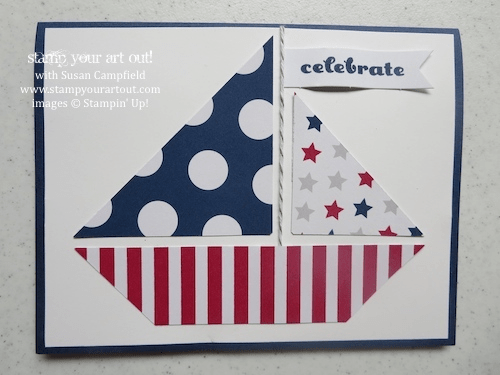June 2014 My Paper Pumpkin: Sailboat Card by Susan Campfield… Stampin' Up!® - Stamp Your Art Out! www.stampyourartout.com
