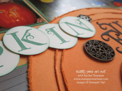 Fun Halloween pumpkin pages made with layered circles… #stampyourartout #stampinup - Stampin' Up!® - Stamp Your Art Out! www.stampyourartout.com