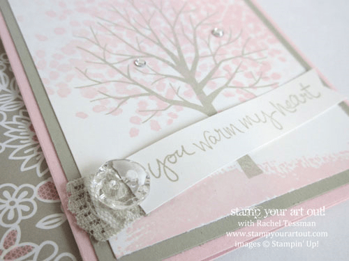 Pink Blossoms! Fun fold card make with Sheltering Tree stamp set from the Occasions Catalog… Stampin' Up!® #stampyourartout #stampinup - Stamp Your Art Out! www.stampyourartout.com