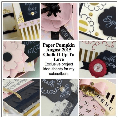 Sneak Peek at the August 2015 Chalk It Up To Love Paper Pumpkin kit exclusive alternate projects… #stampyourartout #stampinup - Stampin' Up!® - Stamp Your Art Out! www.stampyourartout.com