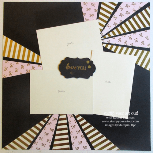 12x12 scrapbook page made with the August 2015 Chalk It Up To Love Paper Pumpkin Kit… #stampyourartout #stampinup - Stamp Your Art Out! www.stampyourartout.com