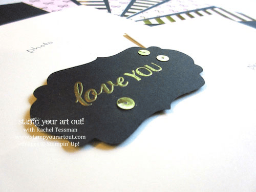 12x12 scrapbook page made with the August 2015 Chalk It Up To Love Paper Pumpkin kit…#stampyourartout #stampinup - Stampin' Up!® - Stamp Your Art Out! www.stampyourartout.com