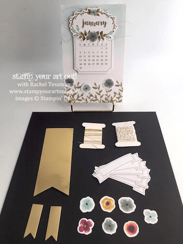 You still have lots of leftover pieces after making the calendar in the December 2015 One Great Year kit so you can use them in other projects. In fact, every Paper Pumpkin kit usually has extra left over pieces. Too fun!…#stampyourartout #stampinup - Stampin' Up!® - Stamp Your Art Out! www.stampyourartout.com