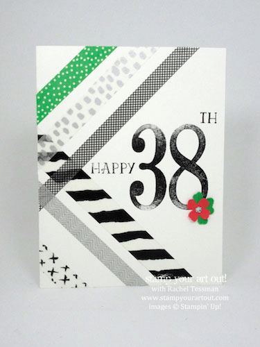 Easy washi tape cards (Everyday Chic Designer Washi Tape)… #stampyourartout #stampinup - Stampin' Up!® - Stamp Your Art Out! www.stampyourartout.com