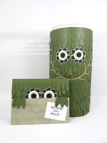 Monster card and box made with the April 2016 Lovely Little Wreath Paper Pumpkin kit …#stampyourartout #stampinup - Stampin' Up!® - Stamp Your Art Out! www.stampyourartout.com