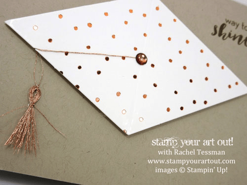 Graduation Cap Notecard - Click here to see lots of project ideas created with the July 2016 What A Gem Paper Pumpkin kit… #stampyourartout - Stampin' Up!® - Stamp Your Art Out! www.stampyourartout.com