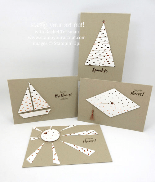 A Variety of Note Cards - Click here to see lots of project ideas created with the July 2016 What A Gem Paper Pumpkin kit… #stampyourartout - Stampin' Up!® - Stamp Your Art Out! www.stampyourartout.com