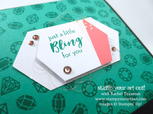 """Fun-Fold """"Matchbook"""" Card - Click here to see lots of project ideas created with the July 2016 What A Gem Paper Pumpkin kit… #stampyourartout - Stampin' Up!® - Stamp Your Art Out! www.stampyourartout.com"""