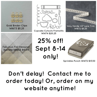 September 8-14, 2016 Special Offers from Stampin' Up!®… #stampyourartout - Stampin' Up!® - Stamp Your Art Out! www.stampyourartout.com