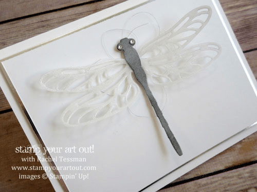 Wink Of Stella on Dragonfly Wings (Detailed Dragonfly Thinlits Dies available in the 2017 Occasions catalog beginning January 4, 2017).… #stampyourartout - Stampin' Up!® - Stamp Your Art Out! www.stampyourartout.com