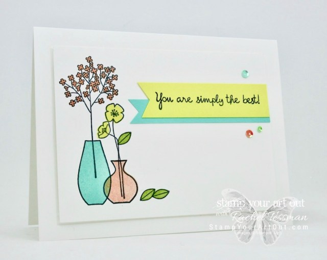 Greeting card stamped with the Varied Vases stamp set that will be available soon in the 2018-19 Catalog. Click here for more information…#stampyourartout - Stampin' Up!® - Stamp Your Art Out! www.stampyourartout.com