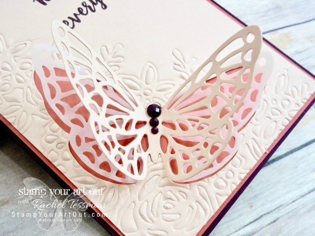 Click here for more information & to watch my quick video to see how to double the value of your dies with the Big Shot Embossing Mats AND how to make pretty butterfly cards using new products from the Garden Impressions Suite that will debut on June 1st in the 2018-19 Catalog: Abstract Impressions stamp set & Springtime Impressions Thinlits dies…#stampyourartout #stampinup - Stampin' Up!® - Stamp Your Art Out! www.stampyourartout.com