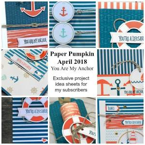 Sneak Peek at the April 2018 You Are My Anchor Paper Pumpkin Kit exclusive alternate projects …#stampyourartout #stampinup - Stampin' Up!® - Stamp Your Art Out! www.stampyourartout.com