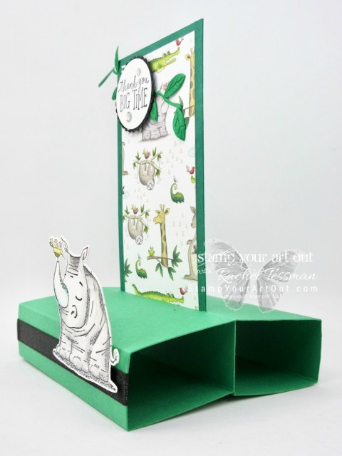 Click here for more information & to watch my quick video to see how to make a super fun freestanding pop up card with products from the Animal Expedition Suite: the Animal Outing stamp set, the Animal Friends Thinlits dies, the fun Animal Expedition designer paper (which is part of the current BUY 3, GET 1 FREE special July 2018), and the Leaf Ribbon…#stampyourartout #stampinup - Stampin' Up!® - Stamp Your Art Out! www.stampyourartout.com