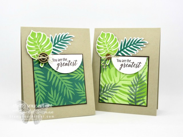 Click here to see how to make a fun and simple card with products from the Tropical Escape Suite: Tropical Escape designer paper, Tropical Chic stamp set and Tropical Thinlits Dies…#stampyourartout #stampinup - Stampin' Up!® - Stamp Your Art Out! www.stampyourartout.com