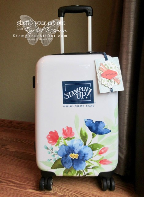 This is the suitcase gift I received for being one of the Global Top 100 Stampin' Up! Demonstrators during the 2017 year…#stampyourartout #stampinup - Stampin' Up!® - Stamp Your Art Out! www.stampyourartout.com