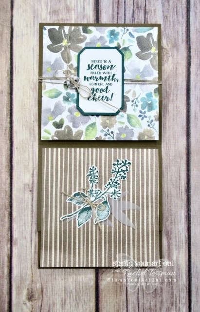 Click here for more information on four Vertical Stretch Fun-fold Cards using products in the Frosted Floral Suite: First Frost stamp set, Frosted Bouquet Framelits and the Frosted Floral Specialty Designer Paper (every sheet shimmers). By clicking here you can access close-up photos of 4 different cards, get measurements and access a link for my how-to video for this fun fold…#stampyourartout #stampinup - Stampin' Up!® - Stamp Your Art Out! www.stampyourartout.com