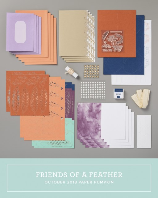 The October 2018 Paper Pumpkin Kit: Friends of a Feather! …#stampyourartout #stampinup - Stampin' Up!® - Stamp Your Art Out! www.stampyourartout.com