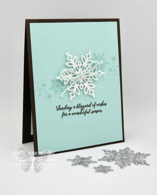 Click here to see how to put together this simple and elegant card using the November 2018 Snowflake Showcase exclusive products from Stampin' Up!…#stampyourartout #stampinup - Stampin' Up!® - Stamp Your Art Out! www.stampyourartout.com