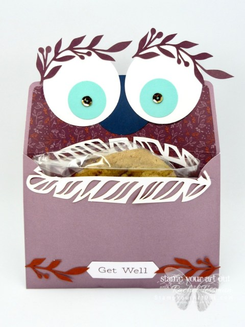 "The feathers in the October 2018 Paper Pumpkin Kit reminded me of lips, so I HAD to make a monster. This guy is a ""Get Well"" treat/gift pouch – perfect for a kiddo recovering from surgery or an illness. Click here to see more photos of this cute project that I made with the Friends of a Feather Paper Pumpkin kit…#stampyourartout #stampinup - Stampin' Up!® - Stamp Your Art Out! www.stampyourartout.com"