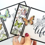 "I couldn't wait to play with my 2019 Occasions & Sale-a-Bration catalog products! I created this pretty yet super-simple card with the new Amazing Life stamp set, the Butterfly Duet Punch, the Black/Silver ¼"" Striped Metallic ribbon, and the Botanical Butterfly designer series paper…#stampyourartout #stampinup - Stampin' Up!® - Stamp Your Art Out! www.stampyourartout.com"