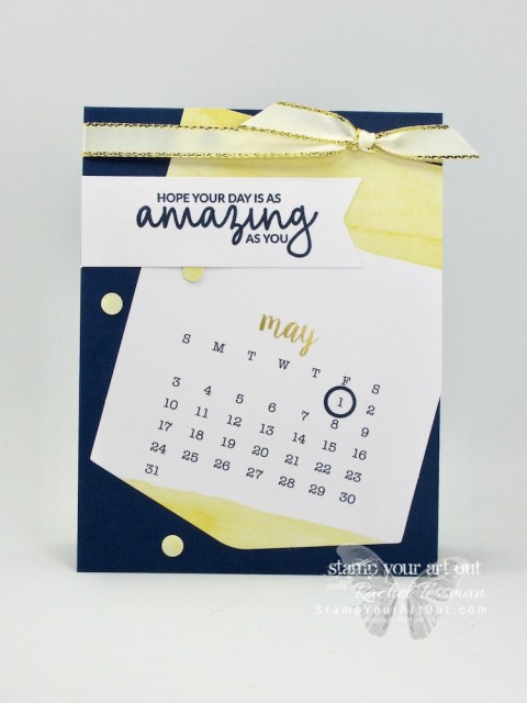 Click here to watch a how-to video and see fun alternate project idea I created with the December 2018 Day by Day Paper Pumpkin Kit…the 2019 calendar on an easel stand, creatively stamped mini note cards, simple candy treats, and simple occasions cards! #stampyourartout #stampinup - Stampin' Up!® - Stamp Your Art Out! www.stampyourartout.com